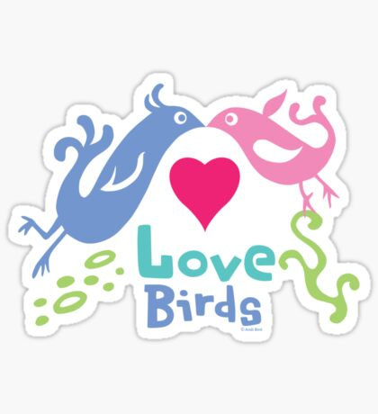 Love Birds - light colors Sticker