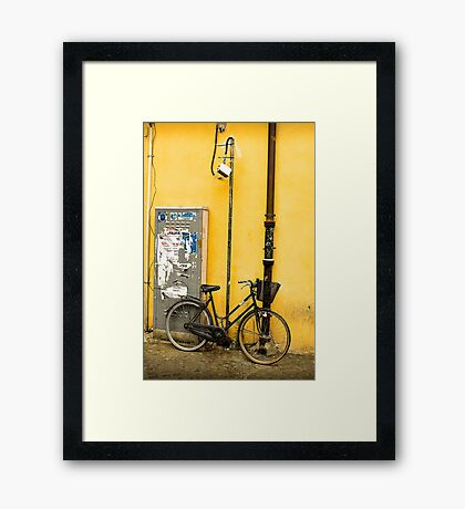 Bike In campo De Fiori Framed Print