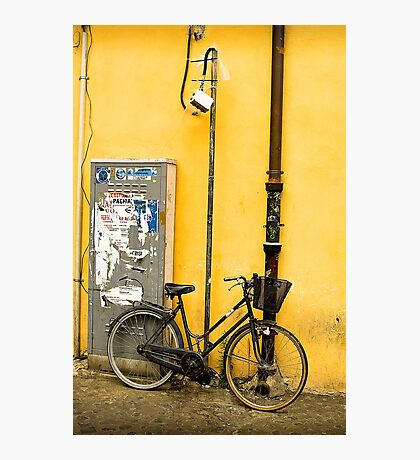 Bike In campo De Fiori Photographic Print
