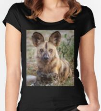 Wild Face of a Dog Women's Fitted Scoop T-Shirt