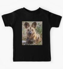 Wild Face of a Dog Kids Clothes