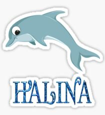 Halina Dolphin Sticker Sticker
