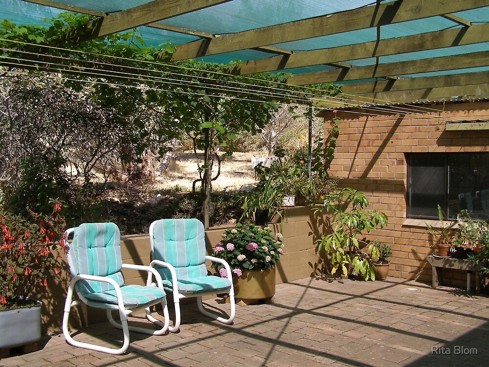 The New looking Back Patio! Mount Pleasant. S.Aust. by Rita Blom