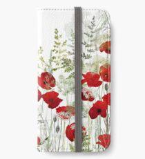 Poppy Field iPhone Wallet/Case/Skin