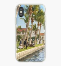 Watching the boat races, Palm Beach, Florida 1906 iPhone Case