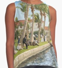 Watching the boat races, Palm Beach, Florida 1906 Sleeveless Top