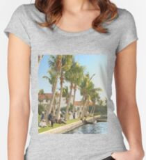 Watching the boat races, Palm Beach, Florida 1906 Fitted Scoop T-Shirt