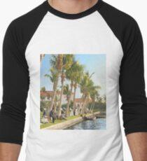 Watching the boat races, Palm Beach, Florida 1906 Baseball ¾ Sleeve T-Shirt