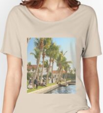 Watching the boat races, Palm Beach, Florida 1906 Relaxed Fit T-Shirt