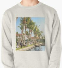 Watching the boat races, Palm Beach, Florida 1906 Pullover Sweatshirt