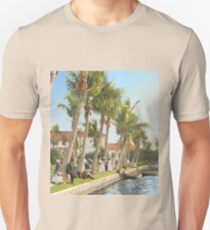 Watching the boat races, Palm Beach, Florida 1906 Slim Fit T-Shirt