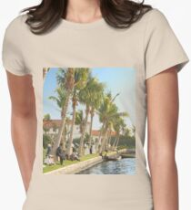Watching the boat races, Palm Beach, Florida 1906 Fitted T-Shirt