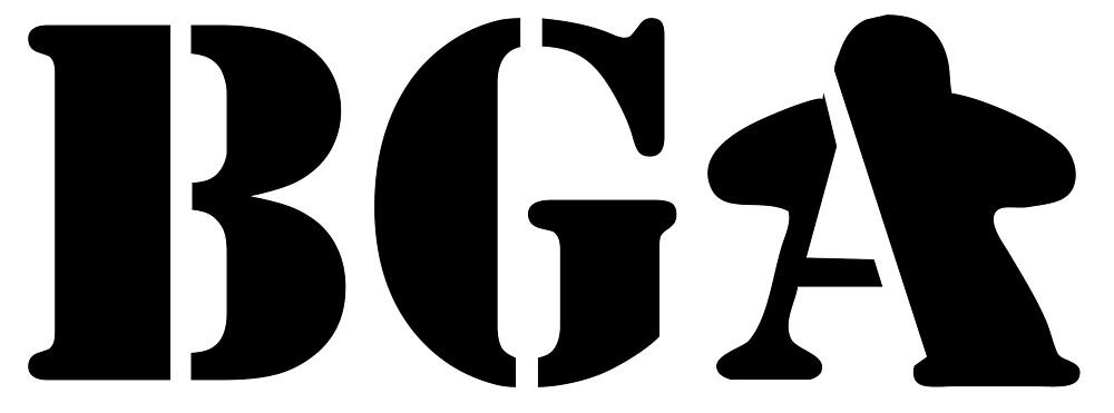 BGA Logo - Black by Board Gamers Anonymous