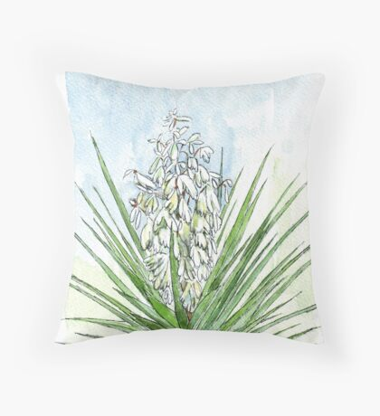 Yucca - Botanical Throw Pillow