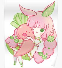 Clover Bunny Cuddle Poster