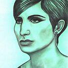 Barbra Streisand celebrity portrait by Margaret Sanderson