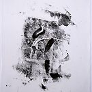 Contraintes et Abandon #4 - Monotype on Wenzhou Paper + pieces of paper sewn by Pascale Baud