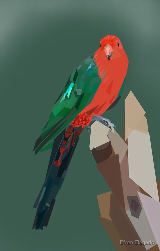 Parrot in Green by Efren Elegado