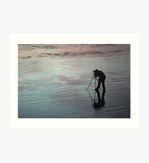 Capturing sunset Art Print