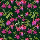 April blooms(Fuchsia) by Kanika Mathur  Design