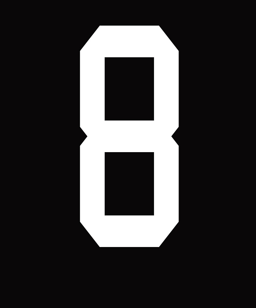 lucky number 8 T shirt - birthday, team sports number, poker