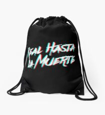 Anuel phrase Drawstring Bag
