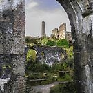 RUINS OF WHEAL BASSET MINE STAMPS AND VANNER HOUSE CORNWALL by Richard Brookes