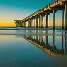 Scripps Pier La Jolla San Diego California at Sunset by Edward Fielding