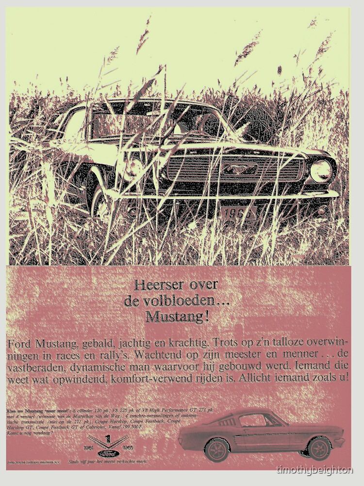 Ford Mustang - Netherlands advert.... by timothybeighton