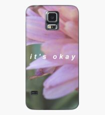 it's okay - floral text Case/Skin for Samsung Galaxy