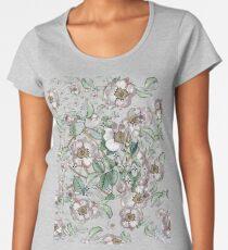 Camiseta premium para mujer Rosa medieval medieval