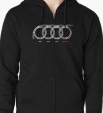 Audi quattro apparels Zipped Hoodie