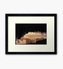 Reflections of Sunset Clouds Framed Print