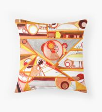 Economies of Scale, Ink drawing Throw Pillow