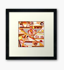 Economies of Scale, Ink drawing Framed Print