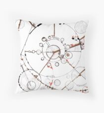 Watch City, Ink drawing Throw Pillow