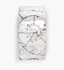 Watch City, Ink drawing Duvet Cover