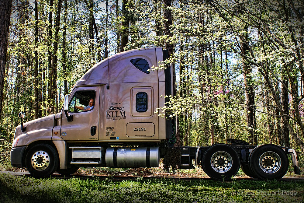 """""""One Hard Working Man With His New Truck"""" by Melinda Stewart Page"""