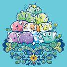 Blühender Piggy Pile im Blau von Paigekotalik