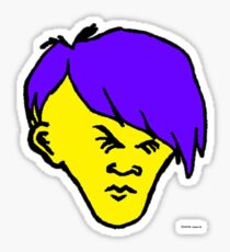 Youth(violet hair yellow skin) Sticker