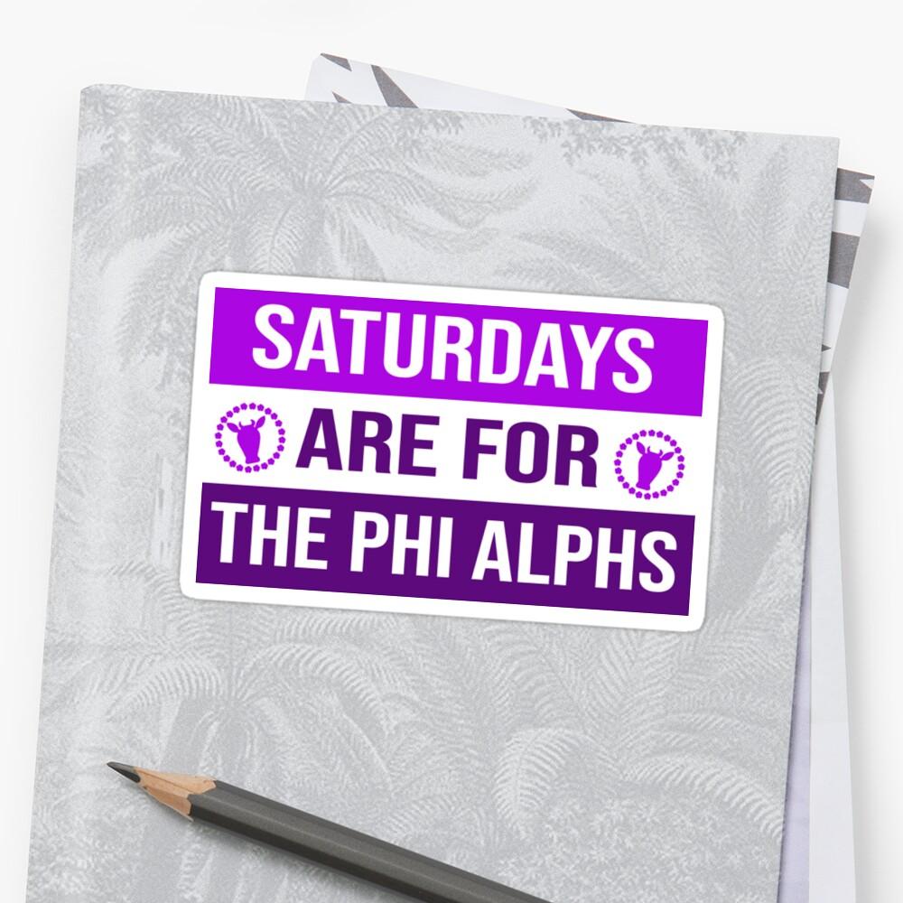 Phi Alpha Mu HOCO 2018 Sticker