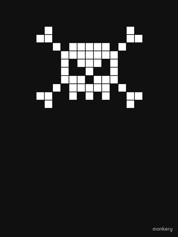 8-bit skull and crossbones by monkery