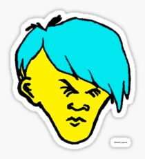 youth(cyan hair) Sticker