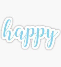 Happy Blue Sticker