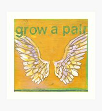 Grow a Pair (of wings!) Angel wing pattern Art Print