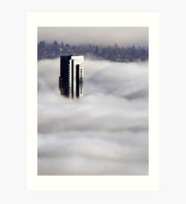 Shangri-La In The Fog Art Print