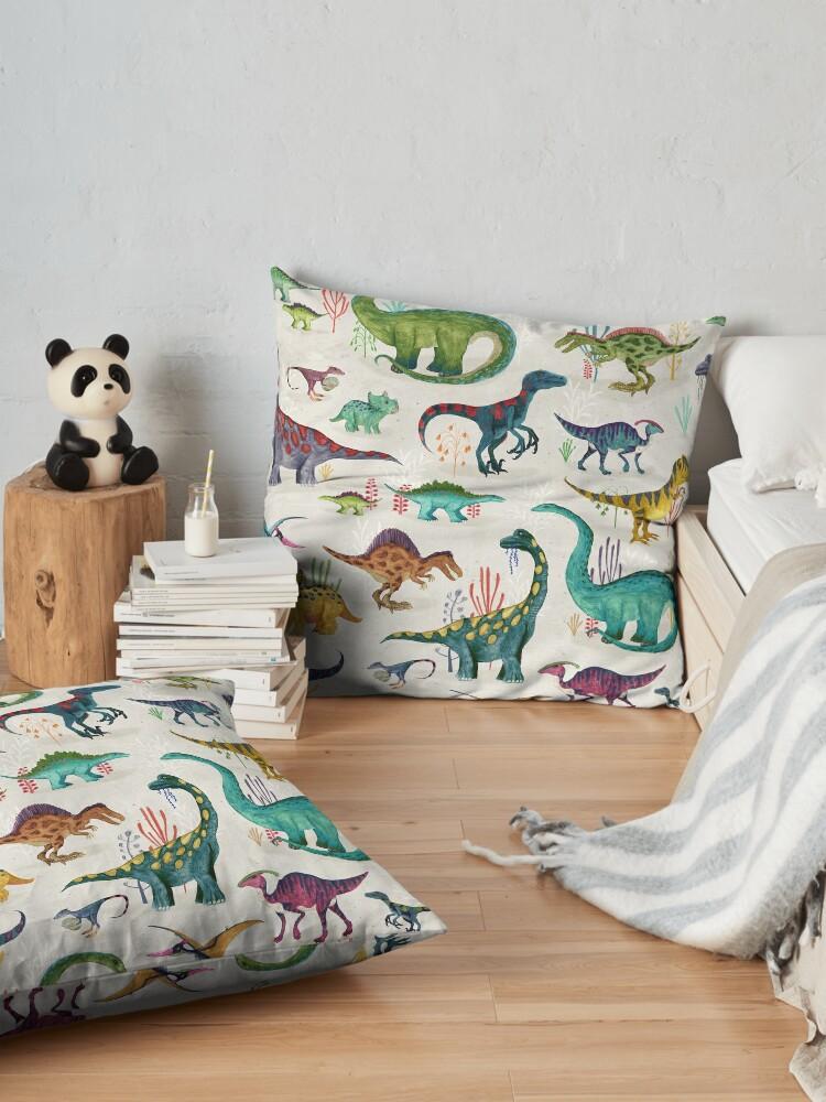 Alternate view of Bright Dinosaurs Floor Pillow
