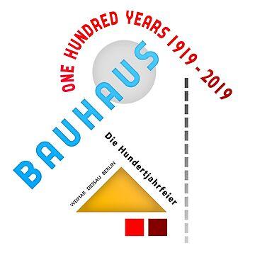 Bauhaus 100 Year Anniversary Poster by MikePrittie