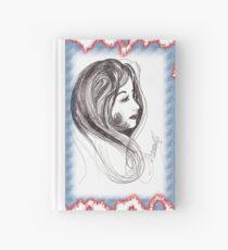 girl in scarf Hardcover Journal