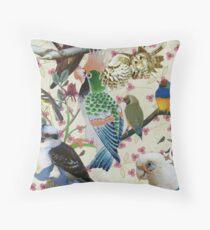 Pretty Birdies Throw Pillow
